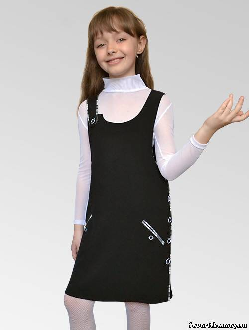 Школьные сарафаны. Школьная форма и классические костюмы. Школьный сарафан С-15. Детская одежда